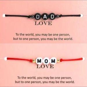 Jewelry - Dad & Mom Pull Cord Bracelets